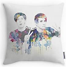 decorbox Phil Lester and Dan Howell Pillowcases Custom Two Sides Cool Comfortable Pillow Case (18inch)