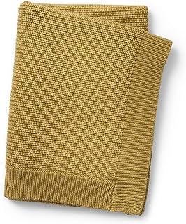 Elodie Details Ullstickad babyfilt Oeko-Tex/ansvarsfull ull standard 70 x 100 cm - guld, gul