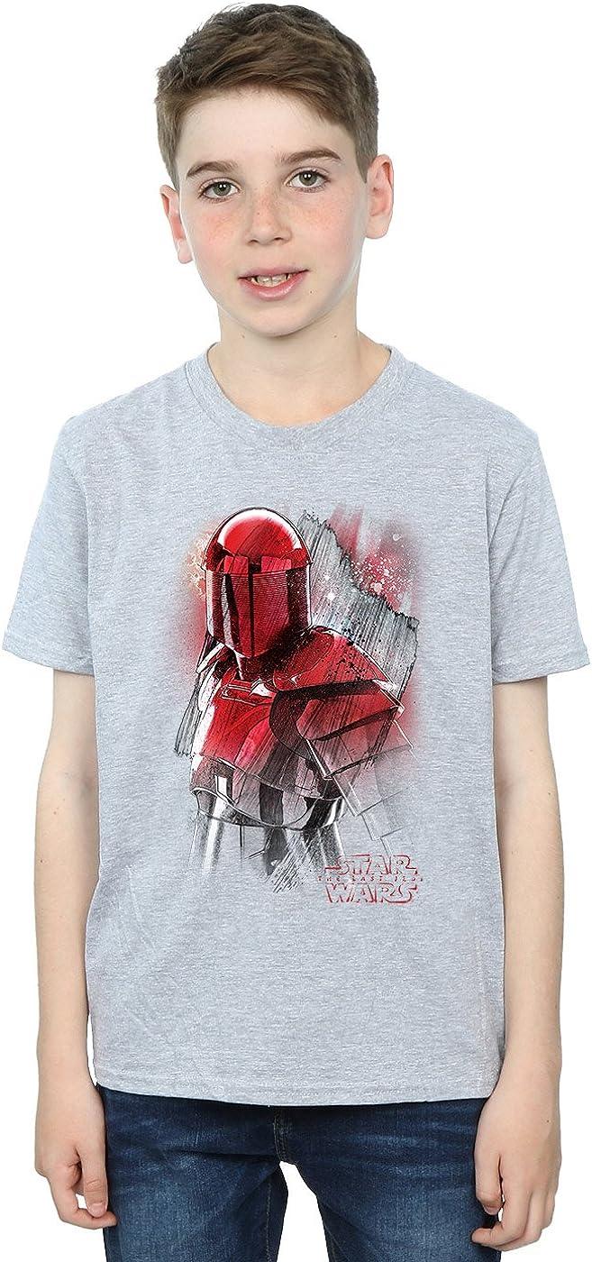 STAR WARS Boys The Last Jedi Praetorian Guard Brushed T-Shirt 5-6 Years Sport Grey
