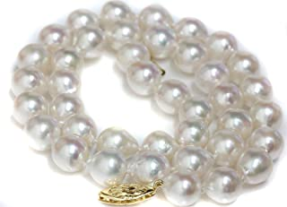 Seven Seas Pearls 14k Gold 9-9.5 mm Cultured Akoya Baroque Pearl Necklace - AAA Quality Princess Length