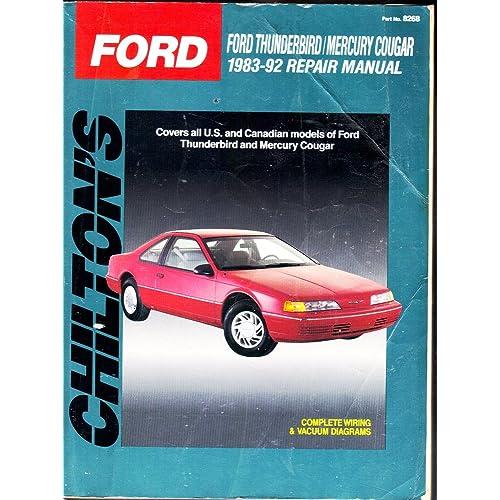 chilton's ford thunderbird/mercury cougar 1983-92 repair manual (chilton's  total car care