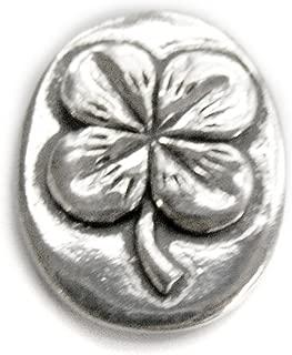 Basic Spirit 4 Leaf Clover / Good Luck Pocket Token (Coin) Handcrafted Pewter Home Lead-Free CN-32