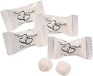 Two Hearts Buttermints Wedding Candy (108 Pieces) 14 oz.