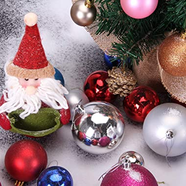 """Vpogn 24 Pack 1.57"""" Small Christmas Ball Ornaments Xmas Tree Balls Christmas Decoration for Holiday Wedding Party Decorat"""