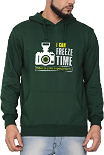 Swag Swami Unisex Cotton I Can Freeze Time Photography Themed Printed Hoodie | Hooded Sweatshirt