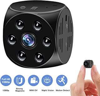 Mini Spy Camera Wireless Hidden: 1080P HD Nanny Cam with Motion Detection & Video Record & Night Vision/Small Indoor Security Camera for Home/Office/Car Surveillance - Perfect Copcam