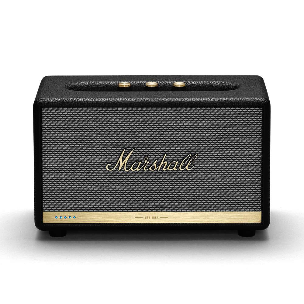 마샬 액톤 II 블루투스 스피커 - 블랙 (멀티룸 와이파이 위드 아마존 알렉사) Marshall Acton II Wireless Wi-Fi Multi-Room Smart Speaker with Amazon Alexa Built-in