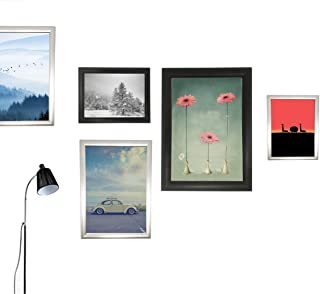 Reliancer A2 Front Load Easy Open Snap Frame Professional Aluminum Poster Pictures Frame for 23.5x16.5 Inches Graphics Wall Mounted w/Non-Glare PVC Lens (Black)