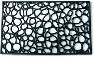 Entryways Loop Recycled Rubber and Natural Latex Doormat, 18