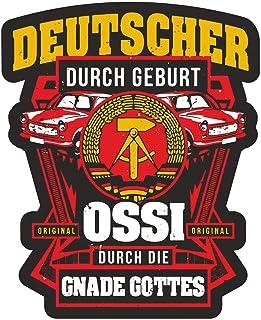 Aufkleber Deutscher durch Geburt Ossi durch Gnade Gottes (Wetterfest) DDR