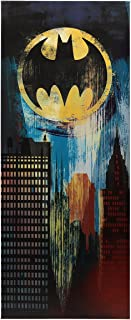 Open Road Brands DC Comics Gotham City Stretch Canvas with Batmen Bat Signal - DC Comics Officially Licensed Product - Light Weight