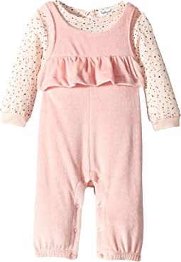 Velour Overalls Set (Infant)