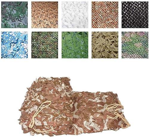 Filet de Camouflage du Désert en Tissu Oxford, Chasse CS Tir Caché Parasol Pêche en Plein Air Camping Décoration Photographie Fête du Jeu pour Enfants, 2  3m, 3  3m Tailles (Taille   3x9m)