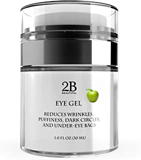 Eye Gel for Wrinkles, Puffiness, Dark Circles, Puffy Eyes, Under Eye Bags, anti Sagging, Fine Lines, Crows Feet for Women ...