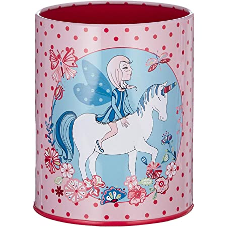 Viquel Magic World - Pot à crayon rond rose avec licorne pour enfant en métal avec intérieur coloré