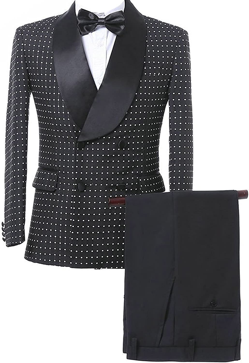 Mens 2-Piece New York Mall Double-Breasted Silm Fit for Men Formal Super Special SALE held Suits Blaze