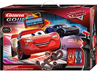 Carrera- Disney: Pixar Cars-Neon Nights Juego con Coches,
