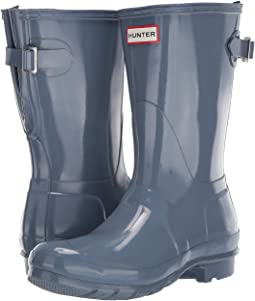 af00ac67c53d Gull Grey. 46. Hunter. Original Back Adjustable Short Gloss Rain Boots