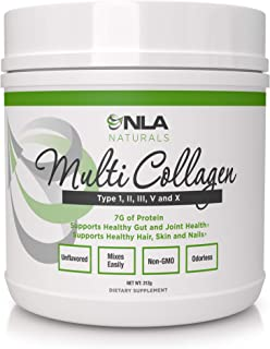 NLA for Her Multi Collagen - 5 Types of Food Sourced Collagen - Type I, II, III, V, and X - 40 Servings - Unflavored - Keto Friendly