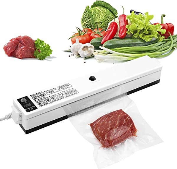 GOSCIEN Vacuum Sealer Machine Food Sealer Machines Vacuum Food One Button Vacuum Sealing System For Household Commercial Use Of Food Preservation With 15 Pcs Vacuum Bags