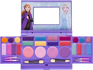 Townley Girl Frozen 2 Cosmetic Compact Set with Mirror 22 lip glosses, 4 Body Shines, 6 Brushes...