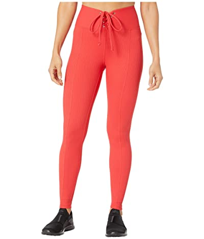 YEAR OF OURS Ribbed Football Leggings (Red) Women