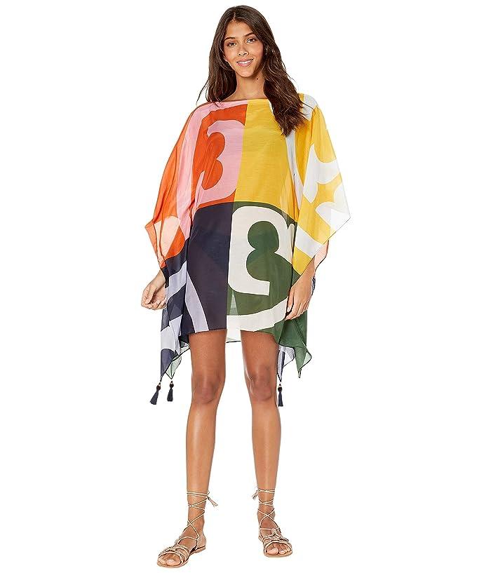 Tory Burch Swimwear Printed Beach Caftan Cover-Up (Broken Logo) Women
