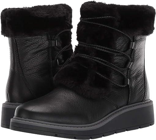 Black Warm Lined/Waterproof Leather