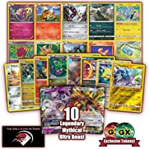 100 Pokemon Cards Plus 10 Legendary/Mythical/Ultra Beast Pokemon with EX and GX Guaranteed and Custom GX Counter