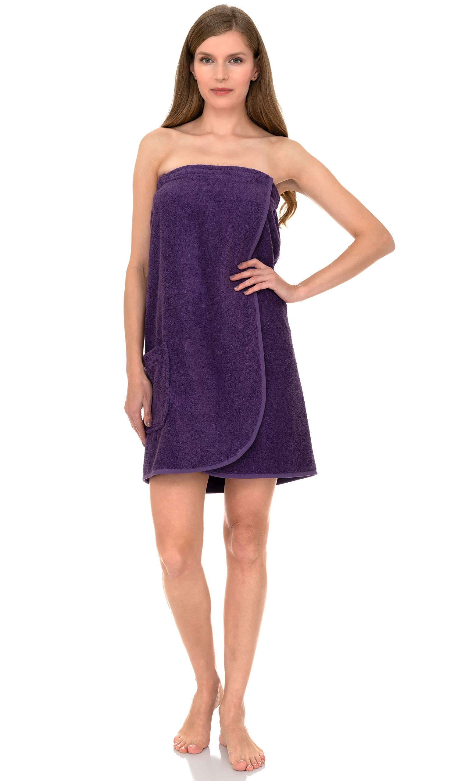 TowelSelections Womens Shower Terry Purple