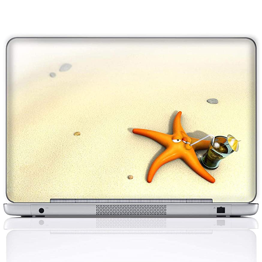 Meffort Inc 17 17.3 Inch Laptop Notebook Skin Sticker Cover Art Decal (Included 2 Wrist pad) - Starfish Beach