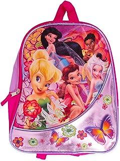 "Disney Tinkerbell Mini Backpack (11"" Disney Fairies Preschool Toddler Backpack with Glitter Design)"