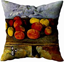 Musesh apple cezanne apples and biscuits Cushions Case Throw Pillow Cover For Sofa Home Decorative Pillowslip Gift Ideas Household Pillowcase Zippered Pillow Covers 16X16Inch