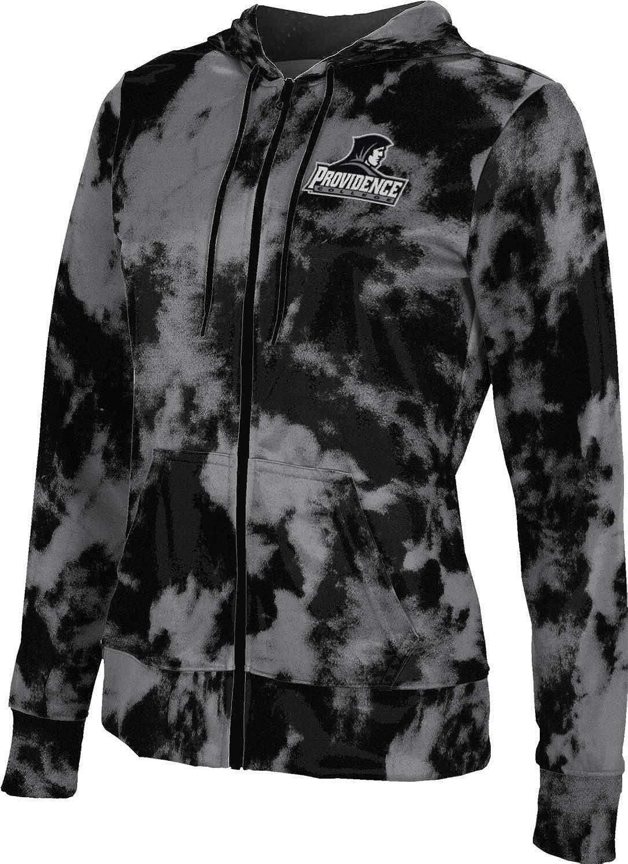 Providence College Girls' Zipper Hoodie, School Spirit Sweatshirt (Grunge)