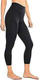 CRZ YOGA Women's High Waisted Workout Leggings Naked Feeling Soft Yoga Capris Running Pants- 21 Inches