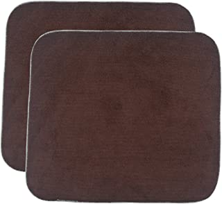 Sinland Microfiber Dish Drying Mat Super Absorbent Dish Drying Rack Pads Kitchen Counter Mat 16Inch X 18Inch Brown 2 Pack