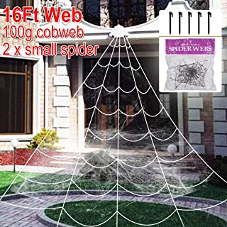 Halloween Outdoor Decoration Scary Giant Spider Web with Super Stretchable Cobweb for Halloween Yard Decoration