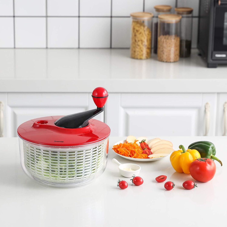 Salad Washer Dryer Ideal for Vegetables and Fruits Salad Spinner Lettuce Spinner Dryer Easy to Clean