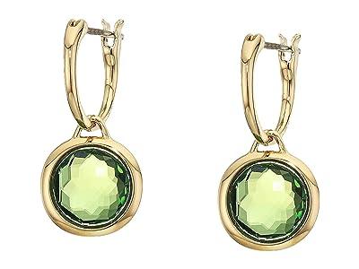 Swarovski Tahlia Mini Hoop Pierced Earrings (Green) Earring