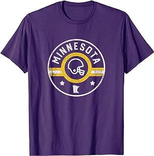 Minnesota Football Stars and Stripes MN Outline T-Shirt