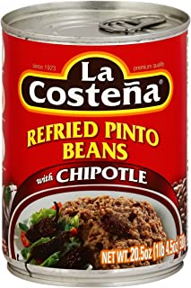 La Costena Refried Pinto Beans with Chipotle, 20.5 oz, pack of 1