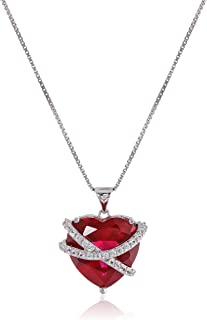 Best heart shaped pendant with birthstones Reviews