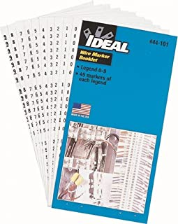 Ideal 44-101 Wire Marker Booklet Legend: 0-9 (45 Each)