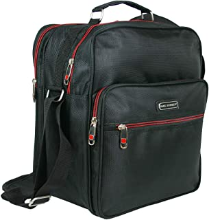 BAG STREET INTERNATIONAL Robuste Arbeitstasche   Handtasche für Männer   Flugbegleiter   Herren-Schultertasche   Schwarz