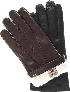 Fratelli Orsini Men's Italian Rabbit Fur Lined Leather Gloves