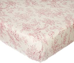 product image for Glenna Jean Isabella Toile Fitted Sheet, Pink/Cream