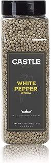 Castle Foods | WHITE PEPPER WHOLE, 20 oz Premium Restaurant Quality
