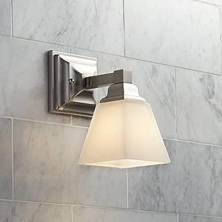 Mencino Modern Wall Light Sconce Satin Nickel Hardwired 9