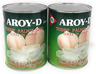 Aroy-D Palms Seed Slices In Heavy Syrup, 20oz (565g), 2 Pack