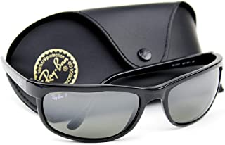 RB2027 601/W1 PREDATOR 2 Sunglasses Black /Crystal Polarized Mirror Grey Lens.